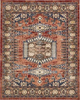Traditional Persian Rugs Vintage Design Inspired Overdyed Fancy Terracotta 8' x 10' St. James Area Rug