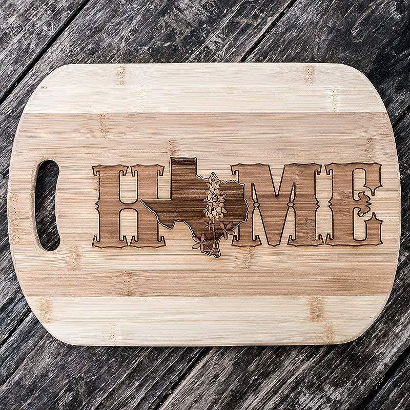 Texas Home Cutting Board 14 X9 5 X 5 Bamboo