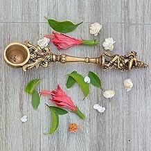Aakrati Krishna Spoon - Yagya Hawan, hawan Spoon, Poojan Purpose, Indian Cultural Religious Item Best for Home, Office, Gi...