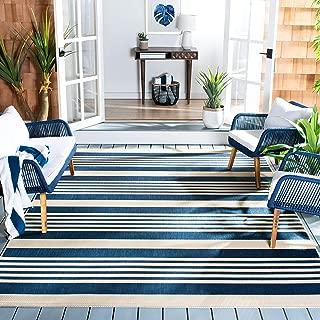 Safavieh Courtyard Collection CY6062-268 Navy and Beige Indoor/ Outdoor Area Rug (6'7