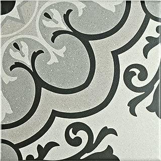 SomerTile FAE6BZS Kallyno Porcelain Floor and Wall Tile, 5.875