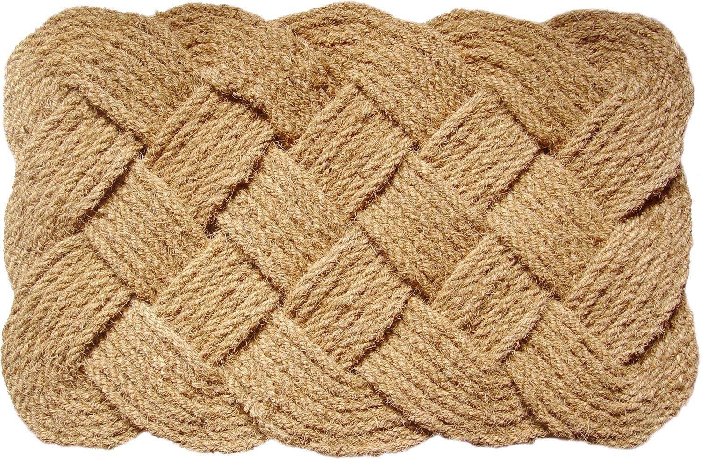 Entryways Knot-Ical Handwoven Coconut Fiber Doormat, 61x91cm