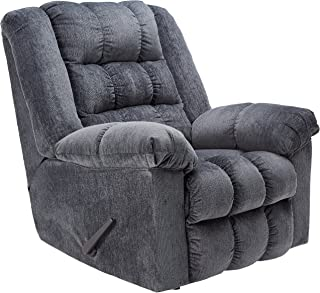 Ashley Furniture Signature Design - Ludden Recliner - Manual Rocker - Blue