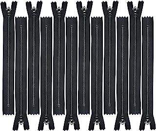 """Zipperstop Wholesale YKK® Zipper 8"""" Zipper YKK #3 Skirt & Dress ~ 580 Black (12 Zippers/Pack)"""