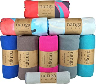 Hot Yoga Towel - Mat Sized, Non Slip, and Absorbent for Bikram, Ashtanga, Hatha Yoga (Teal)