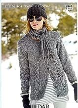 Cardigan in Denim Tweed DK - Sirdar Knitting Pattern 8947