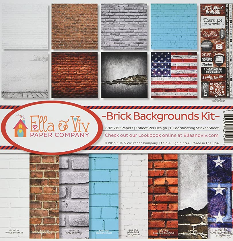 Reminisce EAV-796 Brick Backgrounds Collection Kit