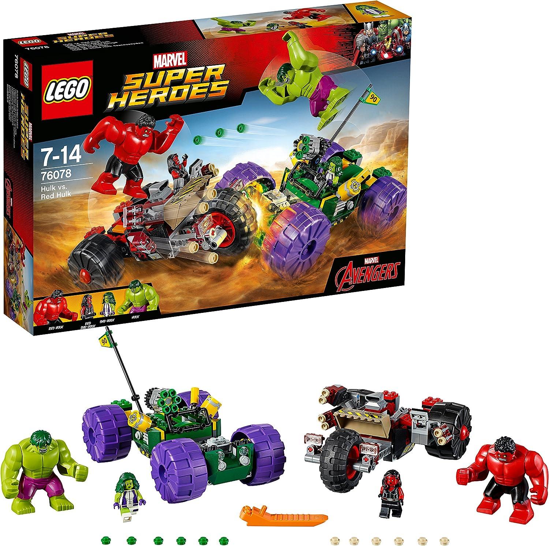 LEGO Marvel Super Heroes 76078 - Hulk gegen rot Hulk, Superhelden-Spielzeug
