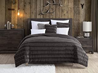 Swift Home Embossed Faux Fur Throw Blanket & Bedspread - Luxurious Over-Sized Faux Fur Bed Throw Blanket- Twin, 68
