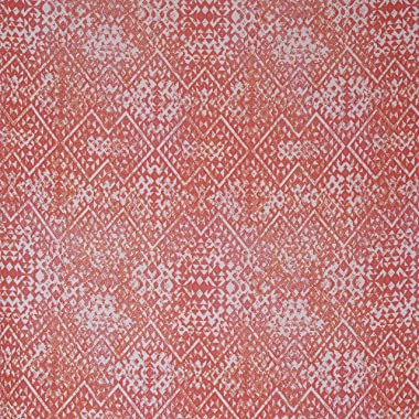 Fabtrends Hi Multi Chiffon Diamond Geo Pink Coral Fabric 10 Yards