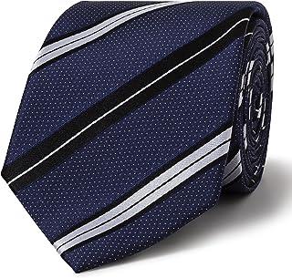 Calvin Klein Men's Silk Pindot Stripe Tie, Navy Pindot