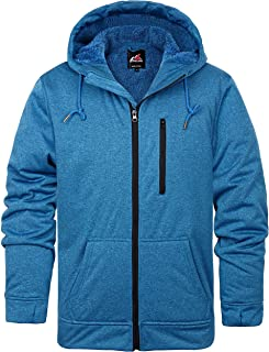 svacuam Men's Fleece Lined Water Resistant Windbreaker Softshell Jacket