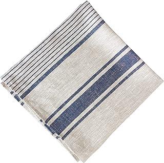 "Natural Linen 100% Flax Bath Towel. Best Quick-Dry Lightweight Towel for Sports, Travel, Beach, Pool 28"" X 58"". (Grey Blu..."