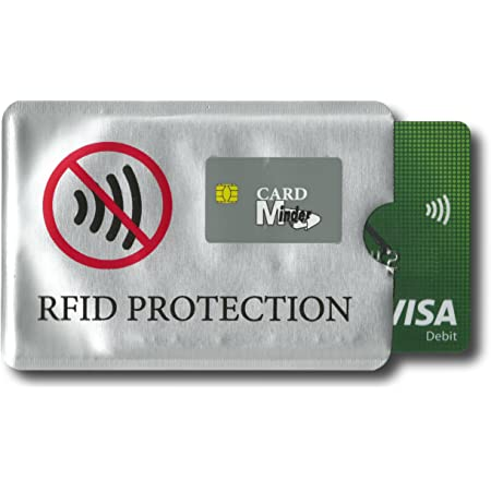 Minder® 5 Pack Designer Card Minder RFID Blocking Secure Protector Sleeve Holder Wallet for Credit/Debit/ID/Oyster Cards - Prevent Fraud, Card Clash ~ As Seen On BBC (Original)