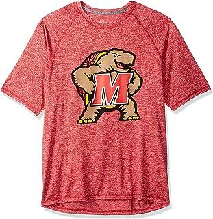 NCAA Maryland Terrapins Men's Electrify 2.0 Shirt Short Sleeve Tee, Scarlet Heather, Small