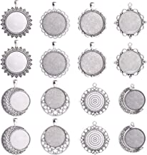 wholesal 4//20pc36x33mm-30x30mm Antique Silver Cameo Cabochon Base Setting Charm