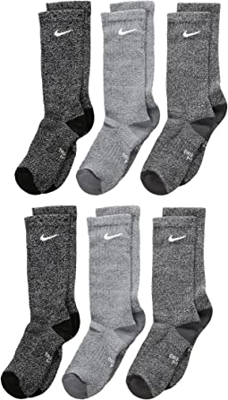 Performance Cushioned Crew Dri-FIT™ Training Socks 6-Pair Pack (Little Kid/Big Kid)
