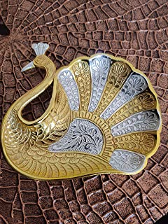 Akriti Brass Art Wares Antique Metal Lord Ganesha Swastik LR Wall Hanging Decor Showpiece , Medium