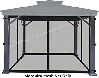 APEX GARDEN Universal 10' x 10' Gazebo Replacement Mosquito Netting (Mosquito Net Only, Size: 10 ft x 10 ft) (Black)