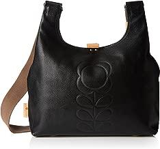 Orla Kiely Flower Stem Embossed Leather Midi Sling Bag