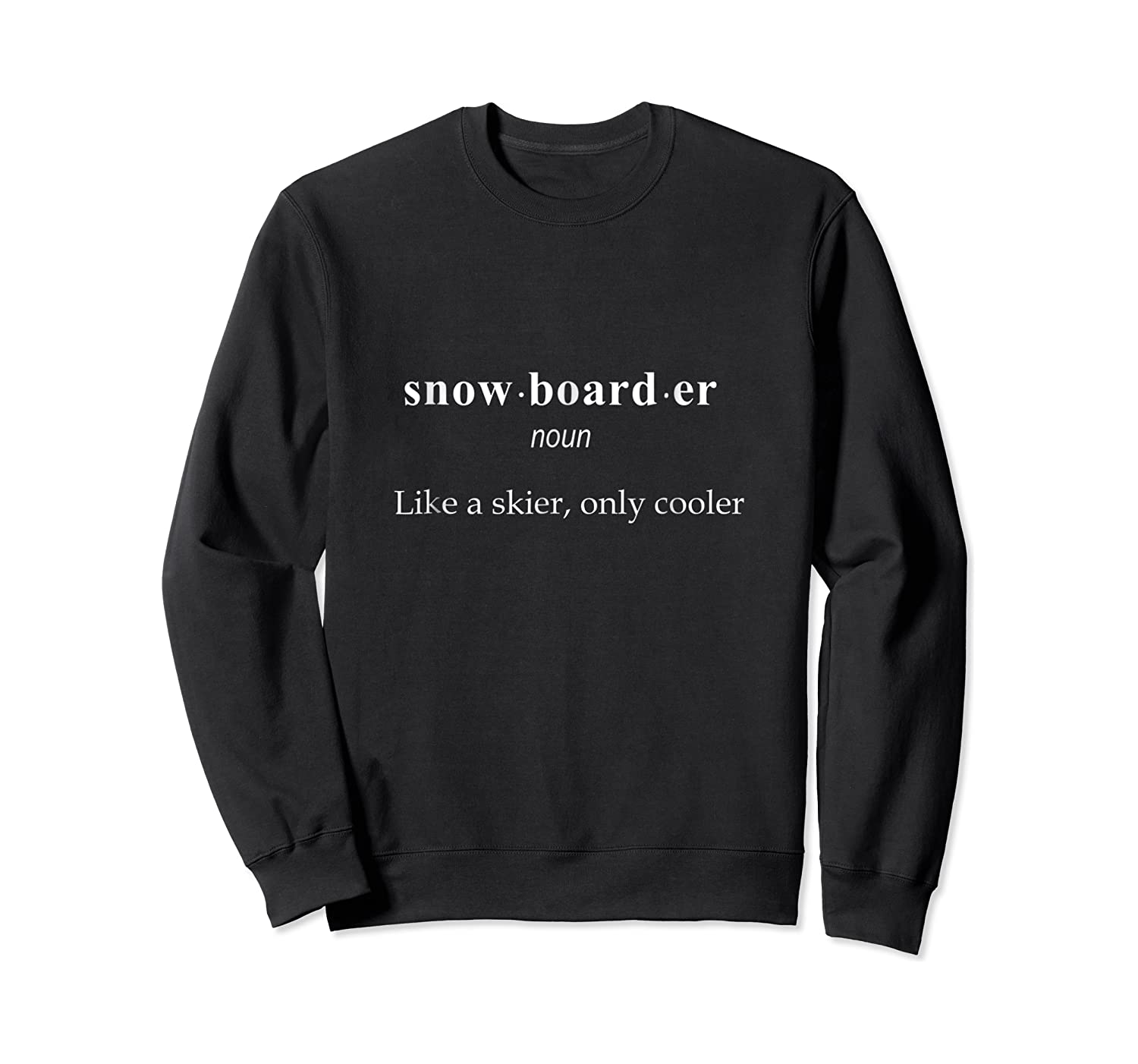 Cool Snowboarding Definition Boarding T Shirt Gift Crewneck Sweater