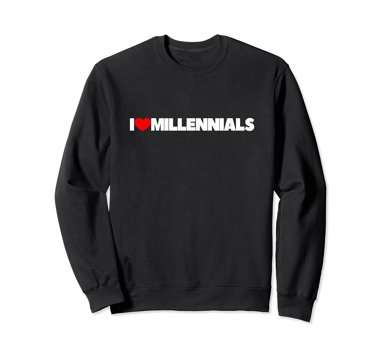 Love Heart Millennials Shirts Crewneck Sweater