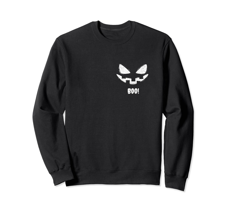 Trick Or Treat Ghost Boo Halloween Pocket Design T-shirt Crewneck Sweater