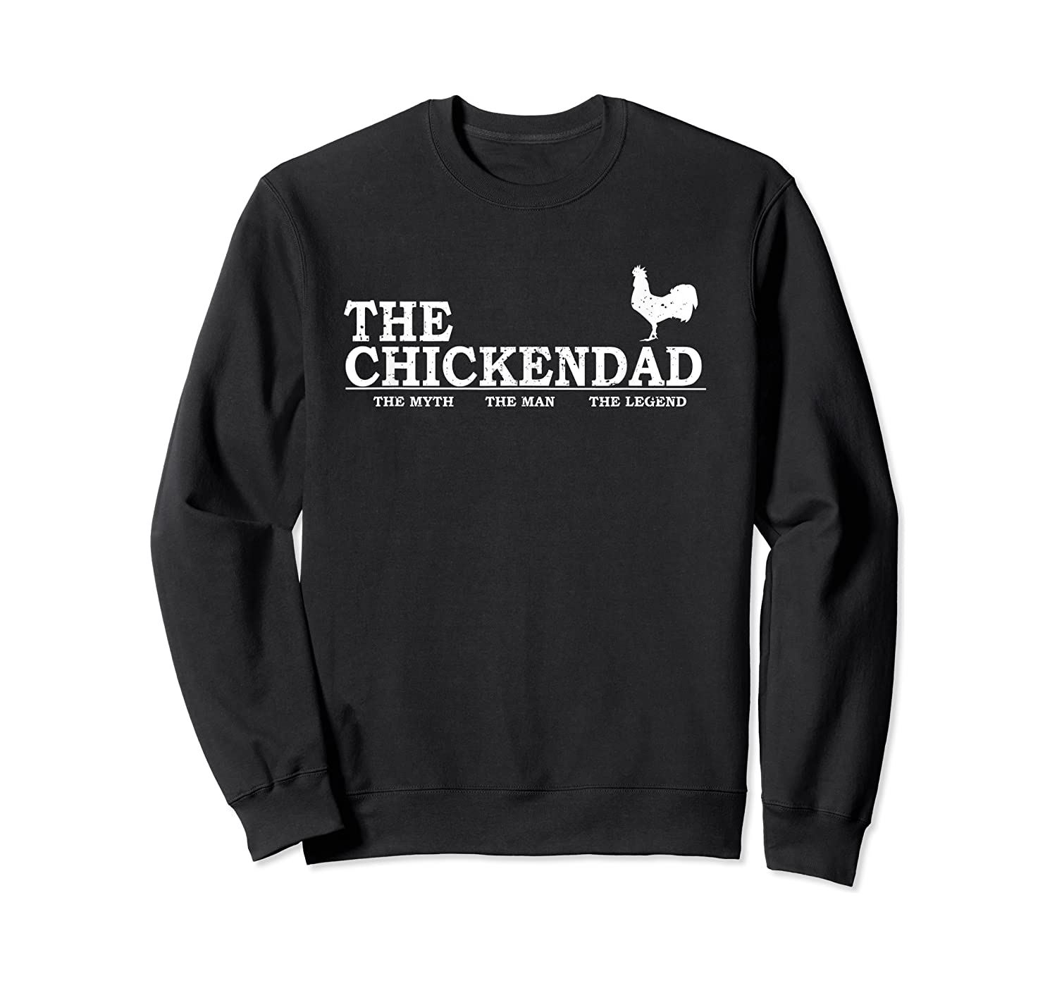 The Chicken Dad Pet Lover Father's Day Gift Cute Shirts Crewneck Sweater