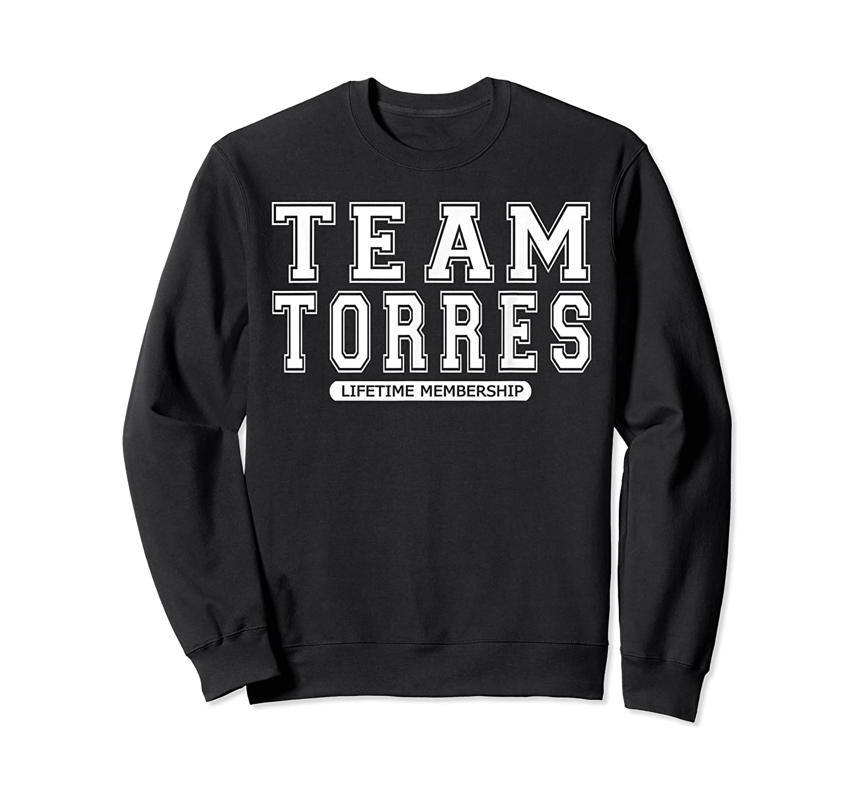 Team Torres Family Surname Reunion Crew Member Gift T-shirt Crewneck Sweater