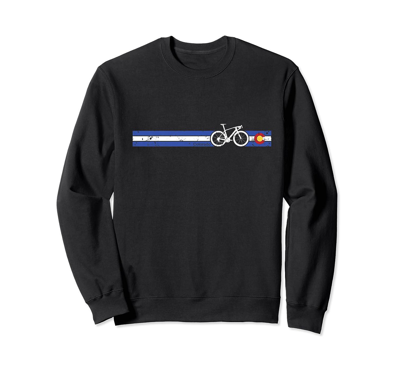 Colorado Flag Cycling T-shirt Beautiful Native Colorado Tee Premium T-shirt Crewneck Sweater