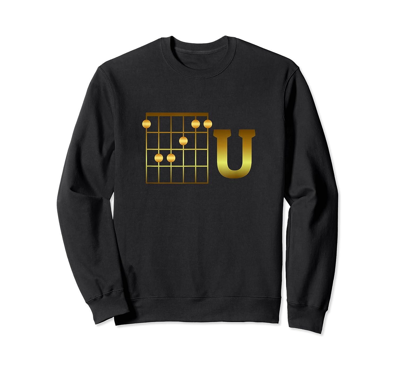 Funny F Chord U Guitarist Player Gift Guitar Lover Shirts Crewneck Sweater