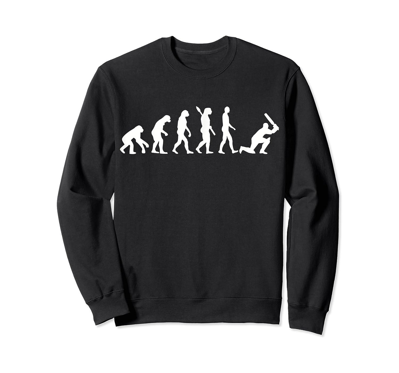 Evolution Cricket Player T-shirt Crewneck Sweater