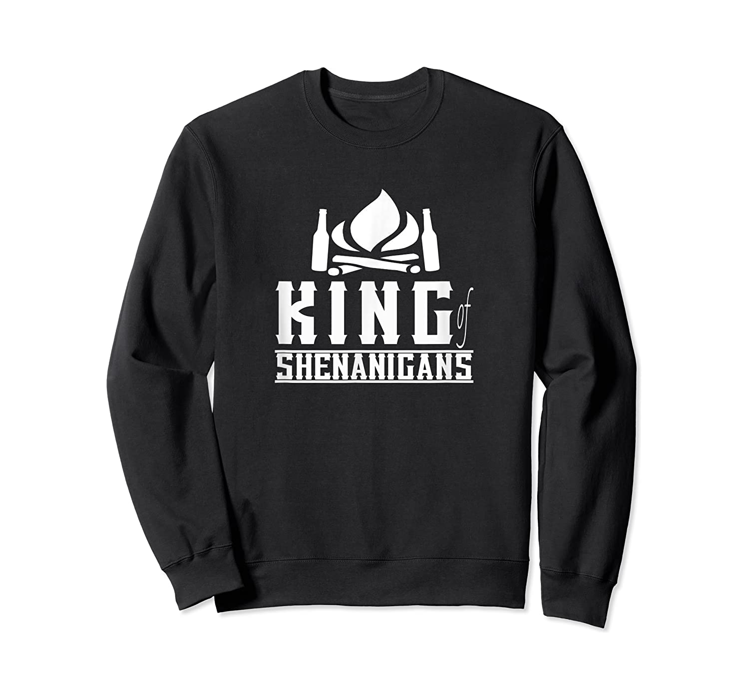 King Of Shenanigans Funny Bachelor Party Animal Drink Fun Shirts Crewneck Sweater