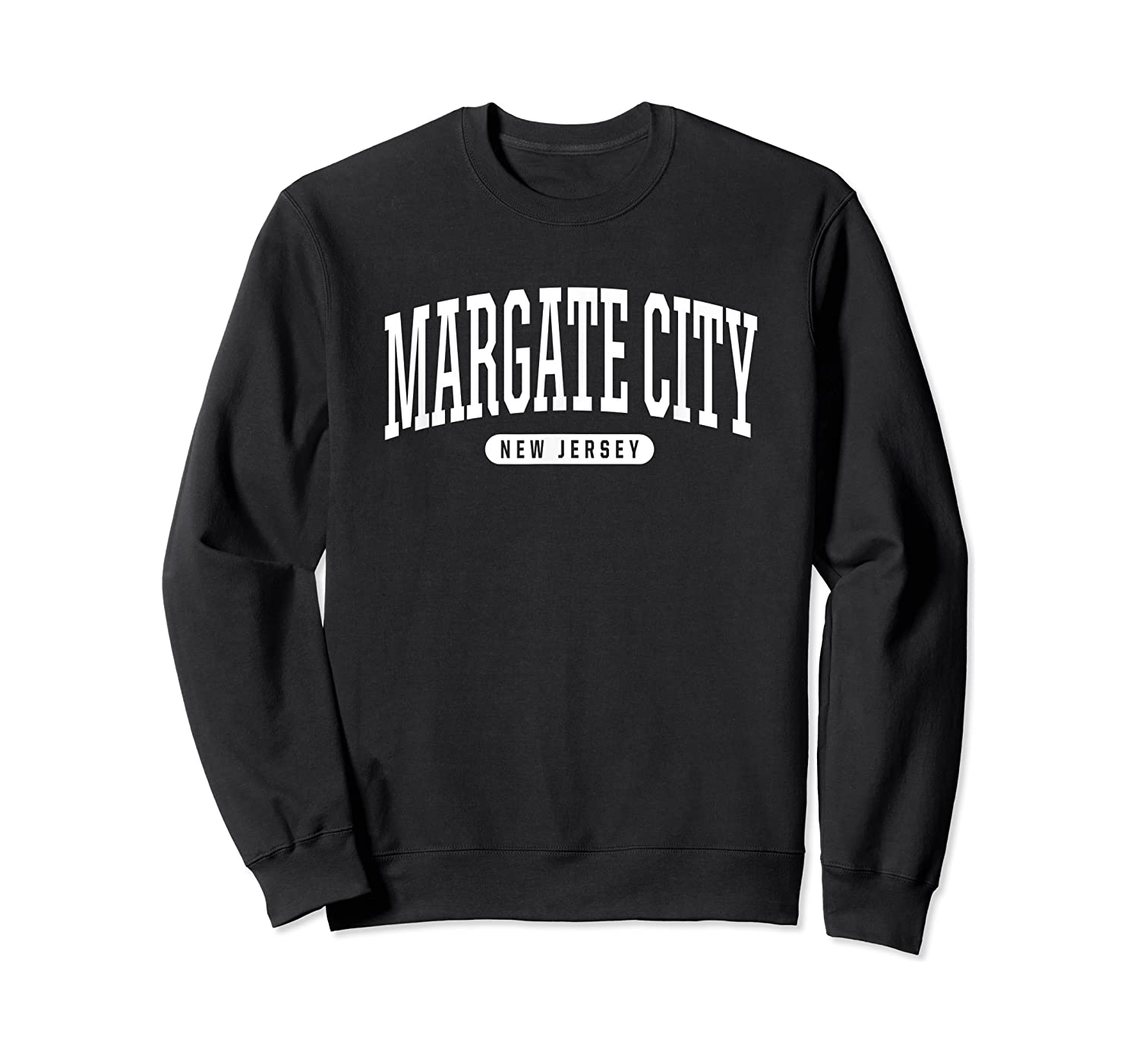 College Style Margate City New Souvenir Gift Shirts Crewneck Sweater