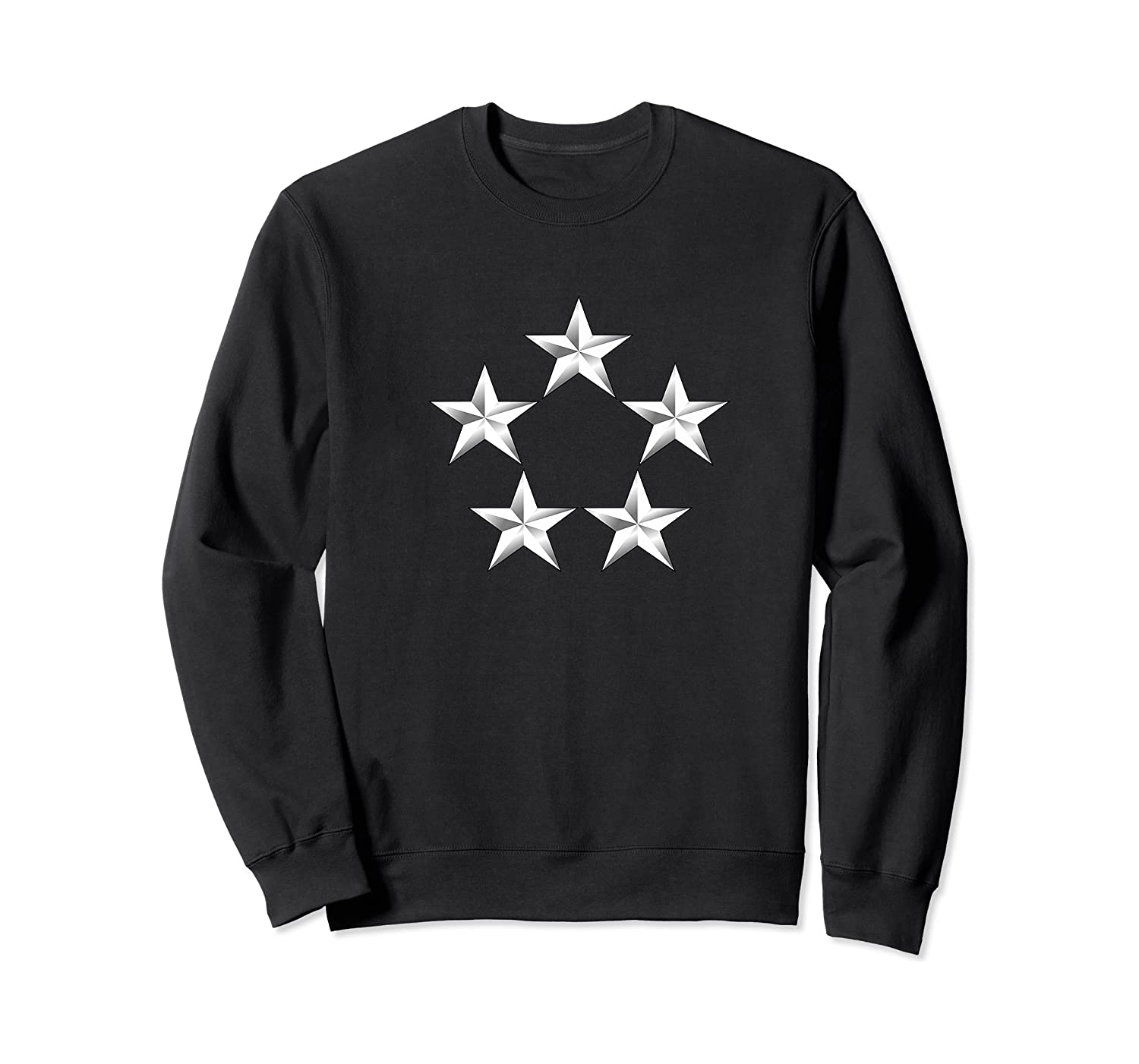 Army Rank General Of The Army Five Star 5 Ga Cen Shirts Crewneck Sweater