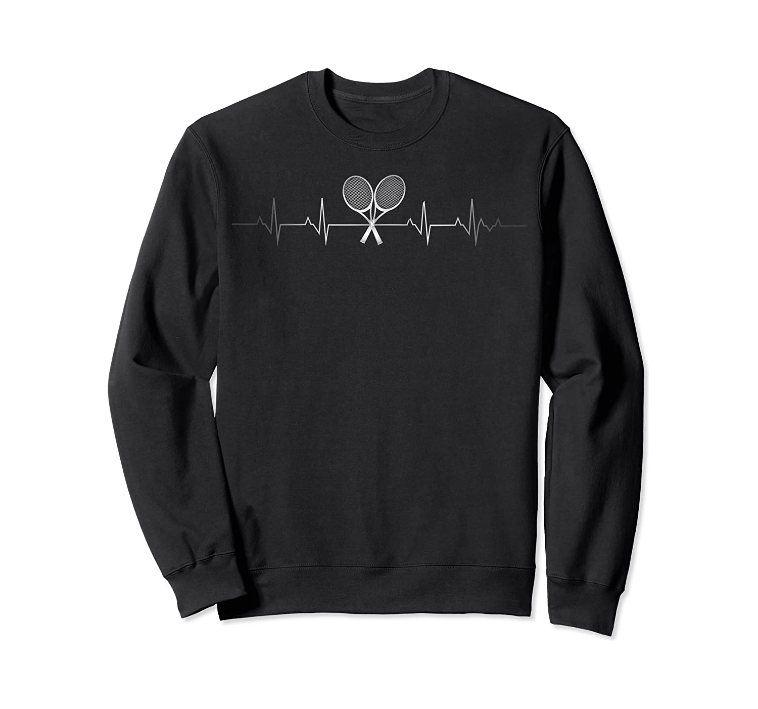 Tennis Heartbeat Gift Funny Tennis Player Lover Shirts Crewneck Sweater