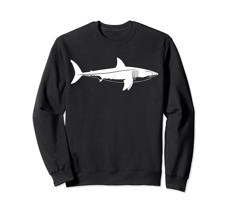 Great Shark Silhouette Simple Shark Design Shirts Crewneck Sweater