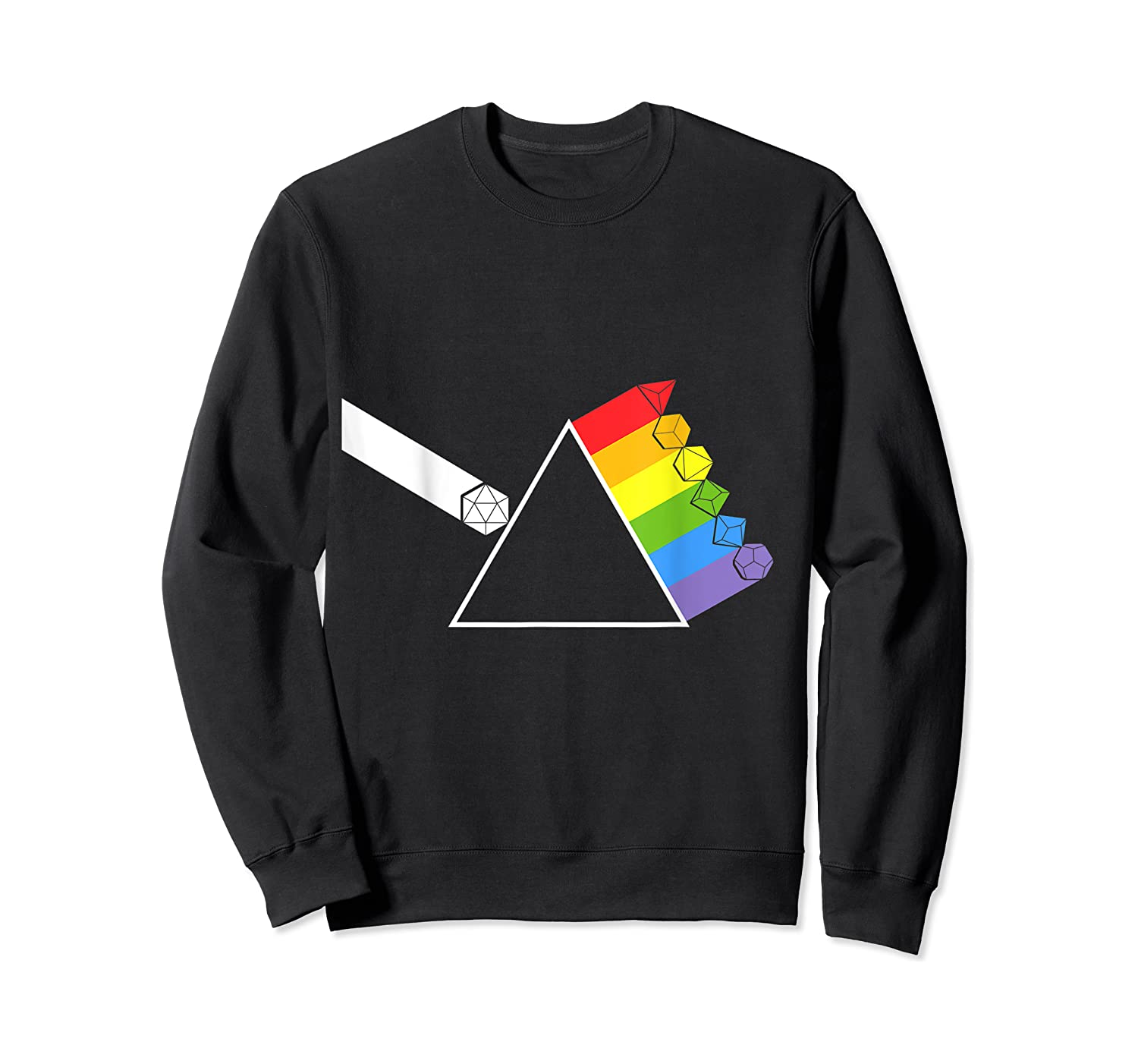 Diceside Of The Moon D20 Dice Set Tabletop Game Shirts Crewneck Sweater