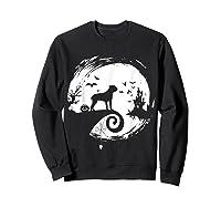 Cane Corso Halloween Costume Moon Silhouette Creepy T-shirt Sweatshirt Black