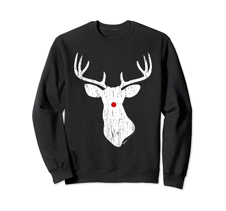 Vintage Christmas Reindeer T Shirt Crewneck Sweater