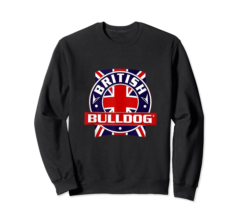 British Bulldog Flag Graphic Shirts Crewneck Sweater