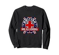British Bulldog Flag Graphic Shirts Sweatshirt Black