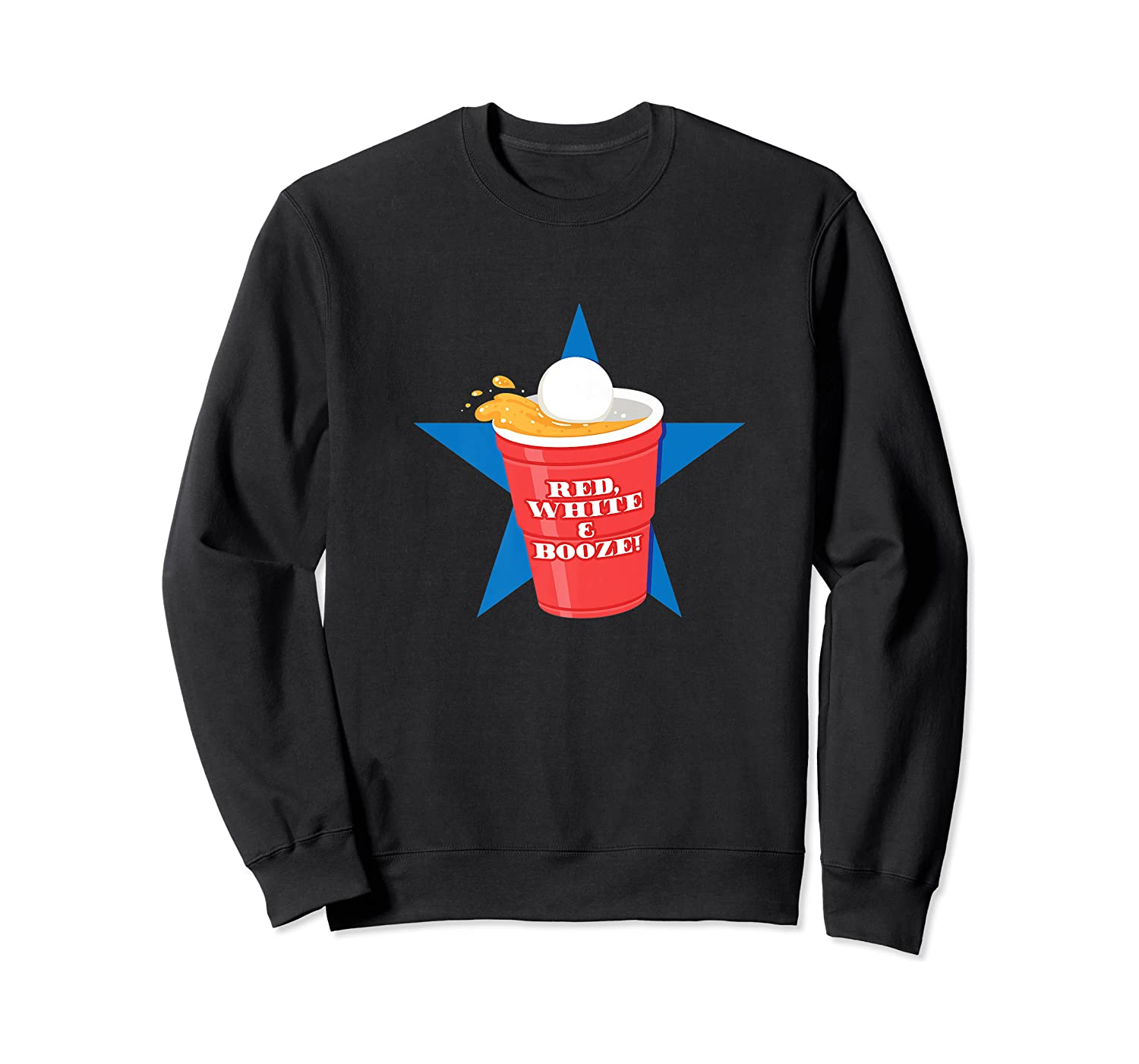 Beer Pong Party College Student Graphic Premium T-shirt Crewneck Sweater