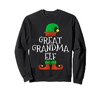 Great Grandma Elf Christmas Funny Xmas Gift Shirts Sweatshirt Black