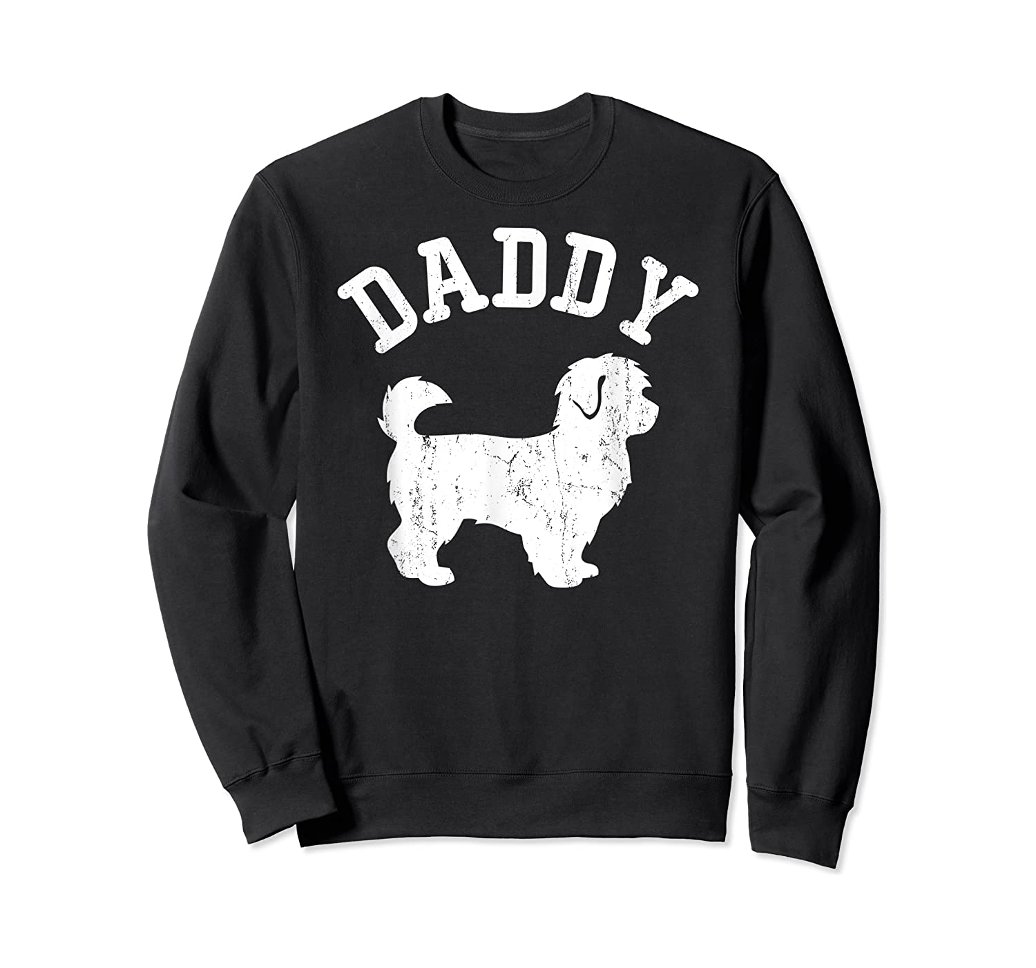 Daddy Maltipoo Vintage Gift Ideas For Dad Shirts Crewneck Sweater