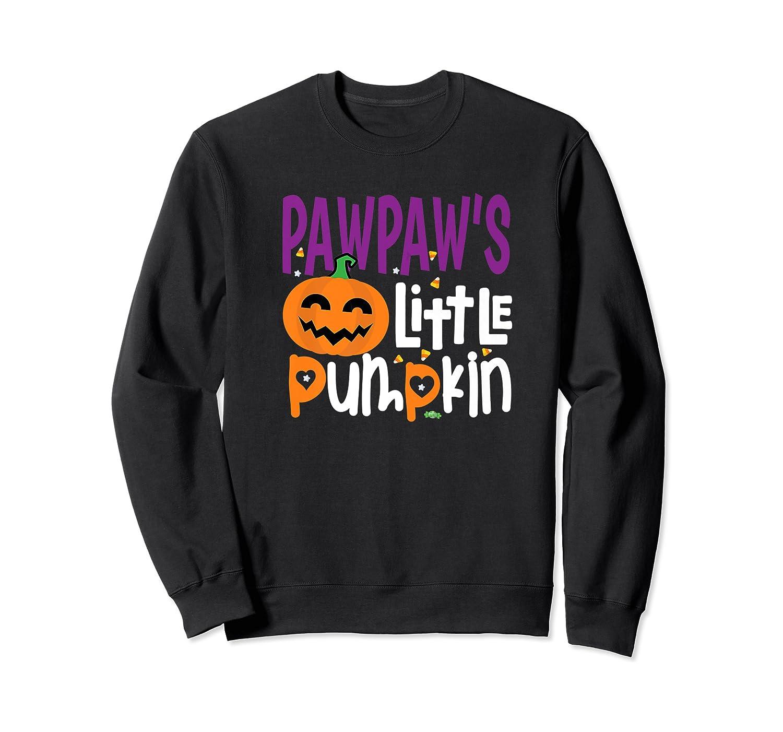 Pawpaw's Little Pumpkin Halloween Cute Pumpkin Gifts Shirts Crewneck Sweater