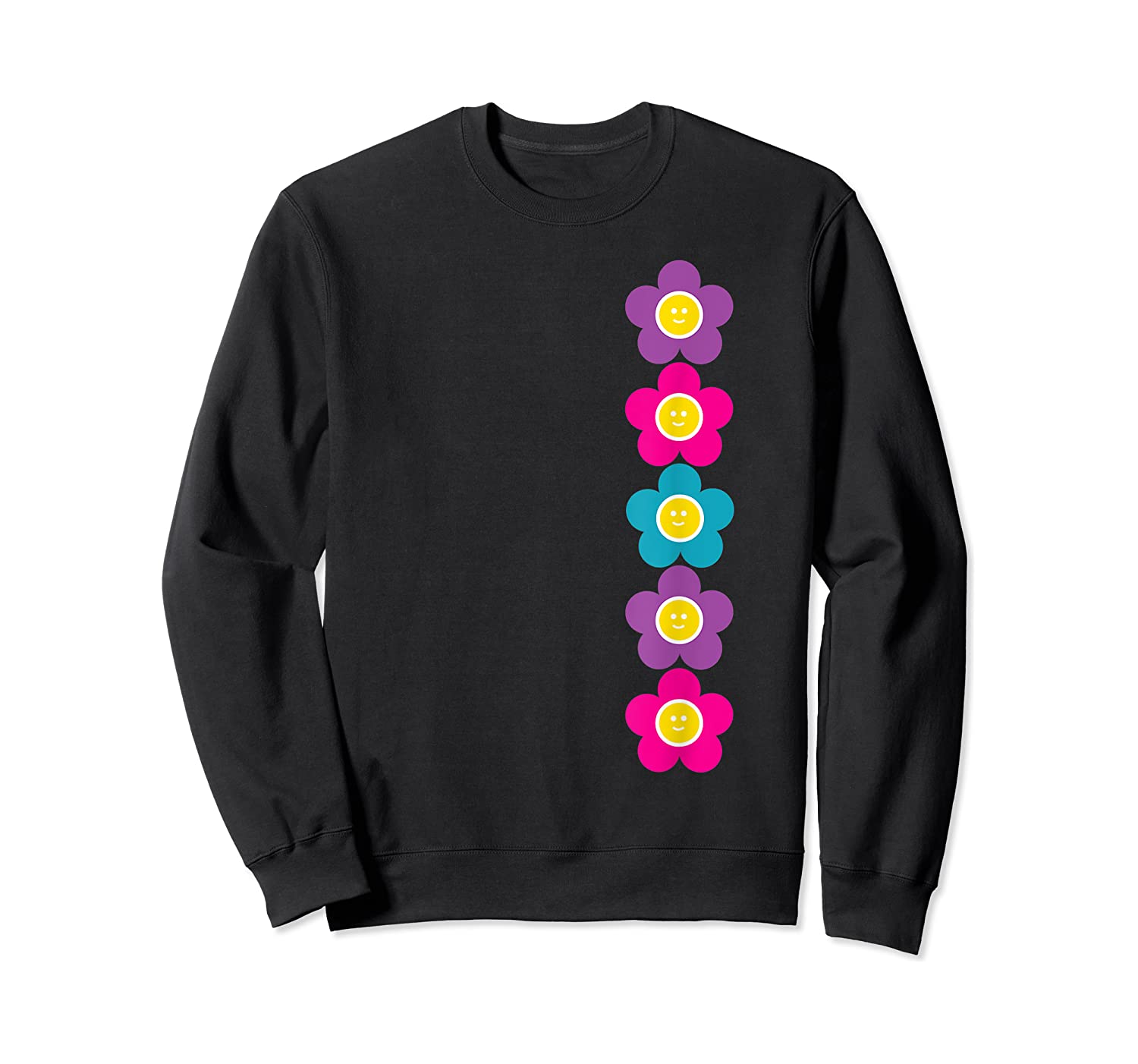 Daisy Flower Pattern Happy, Fun, Bright And Colorful Shirts Crewneck Sweater