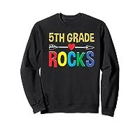 5th Grade Rocks Cute Back To School Tea Gift Premium T-shirt Sweatshirt Black