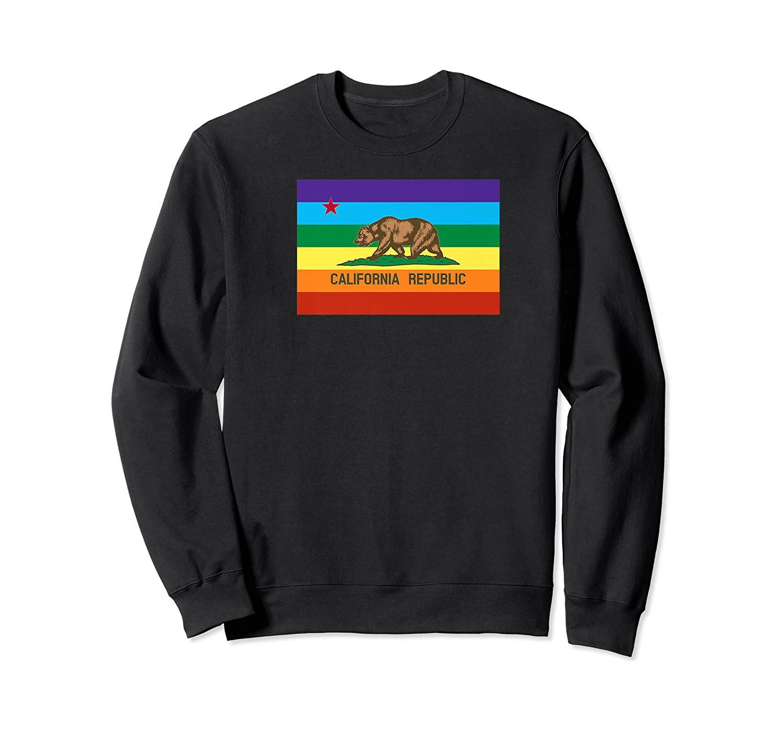 New California Gay Pride Rainbow Bear Black T Shirt lesbian love LBGT cali ca