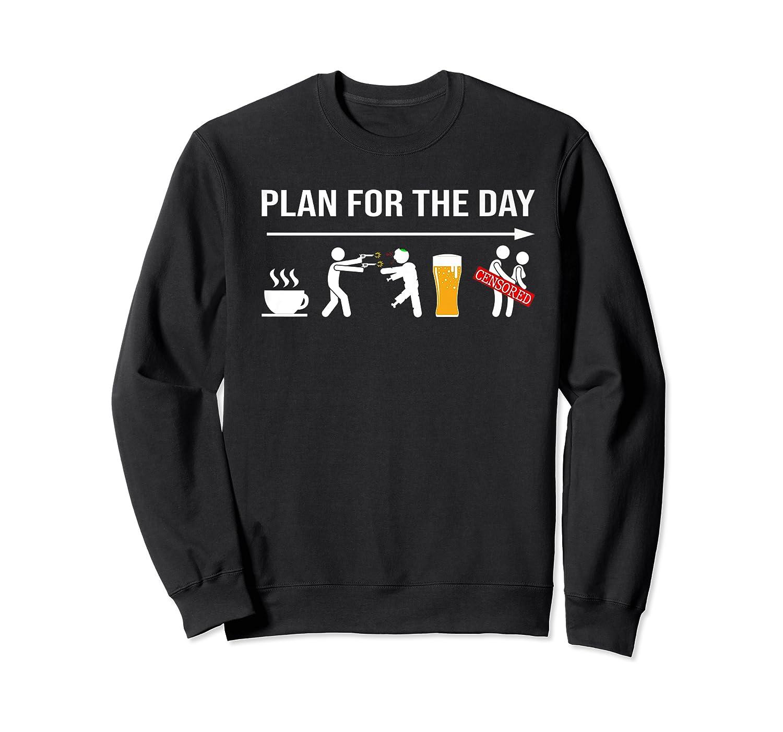 Zombie Hunter Adult Humor Halloween Premium T-shirt Crewneck Sweater